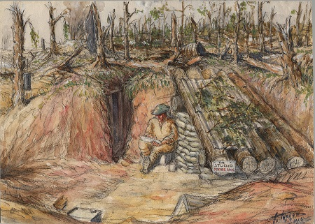 William Topham An Artist s Home on the Somme.jpg
